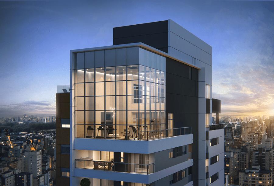 Facade of Viso Moema building, São Paulo, Brazil