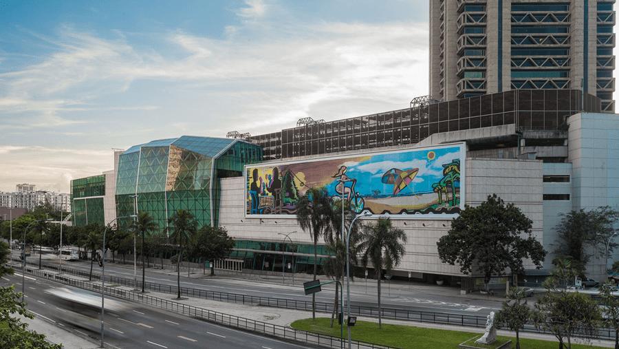 Facade of Rio Sul mall, Rio de Janeiro, Brazil