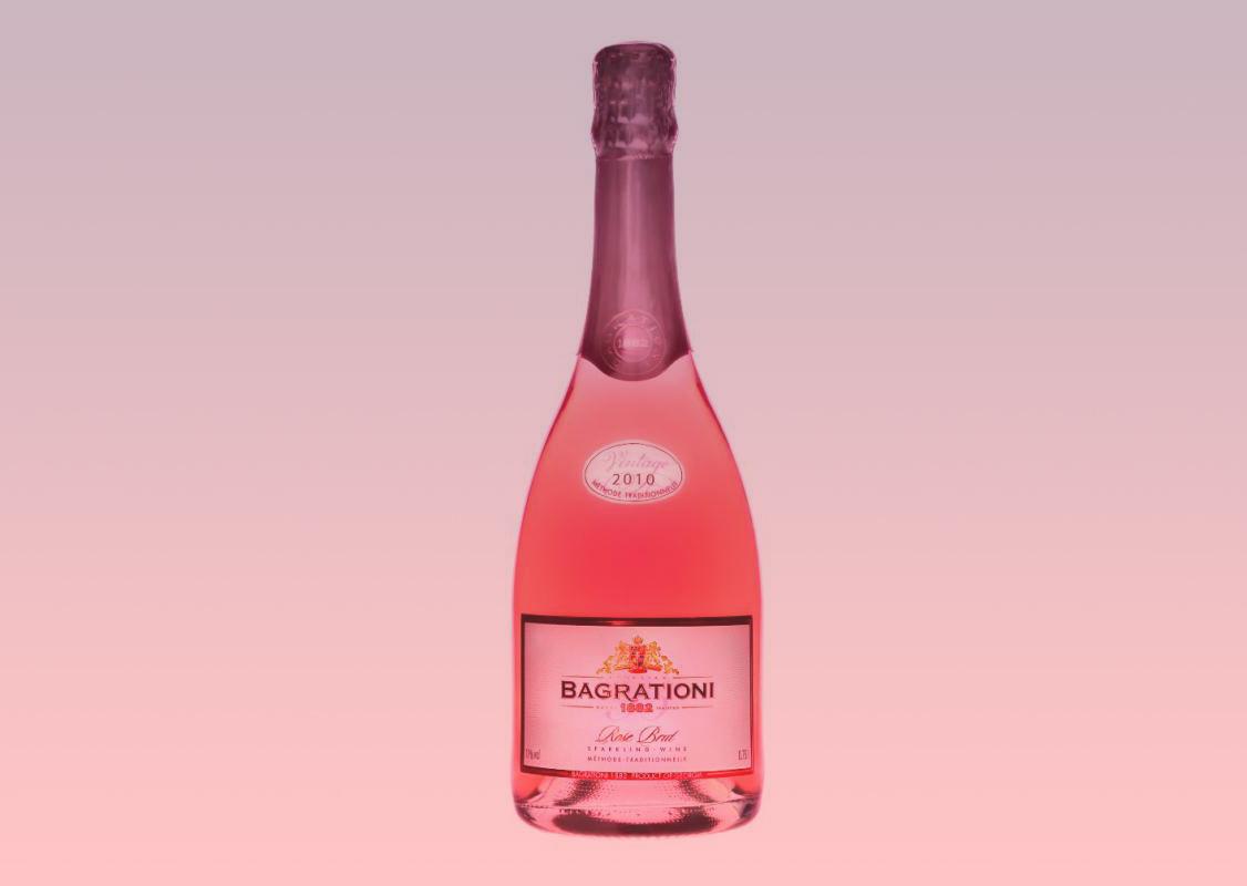 Bagrationi Rose Brut - Tavkveri grape