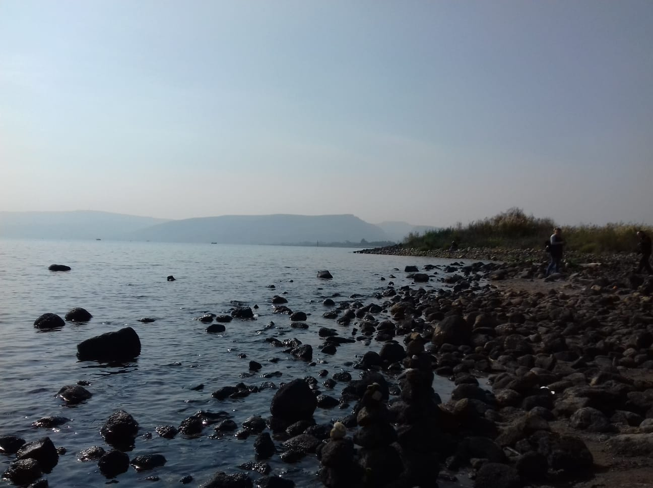 The shore of lake Galilee