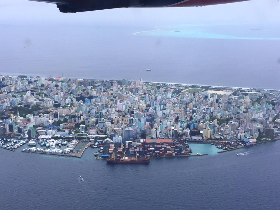 A view of the island of Malé.