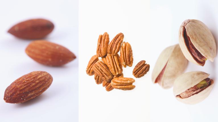 Nuts (i.e, almonds, pecans, pistachios, etc.) -