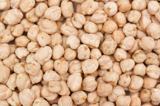 Chickpeas (a.k.a. garbanzo beans) -