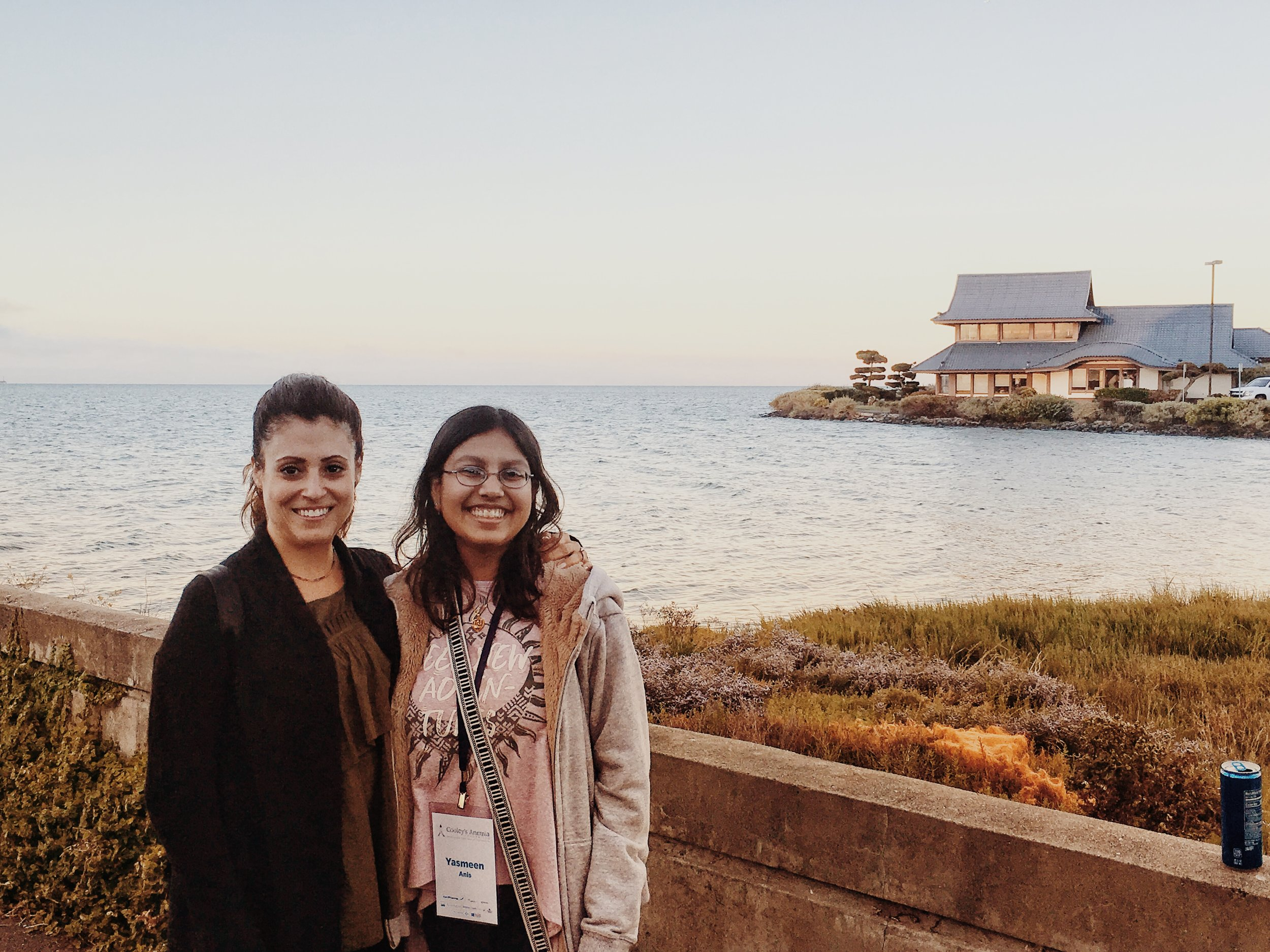Here I am with the vibrant little miss Yasmeen. It was cold in San Francisco!