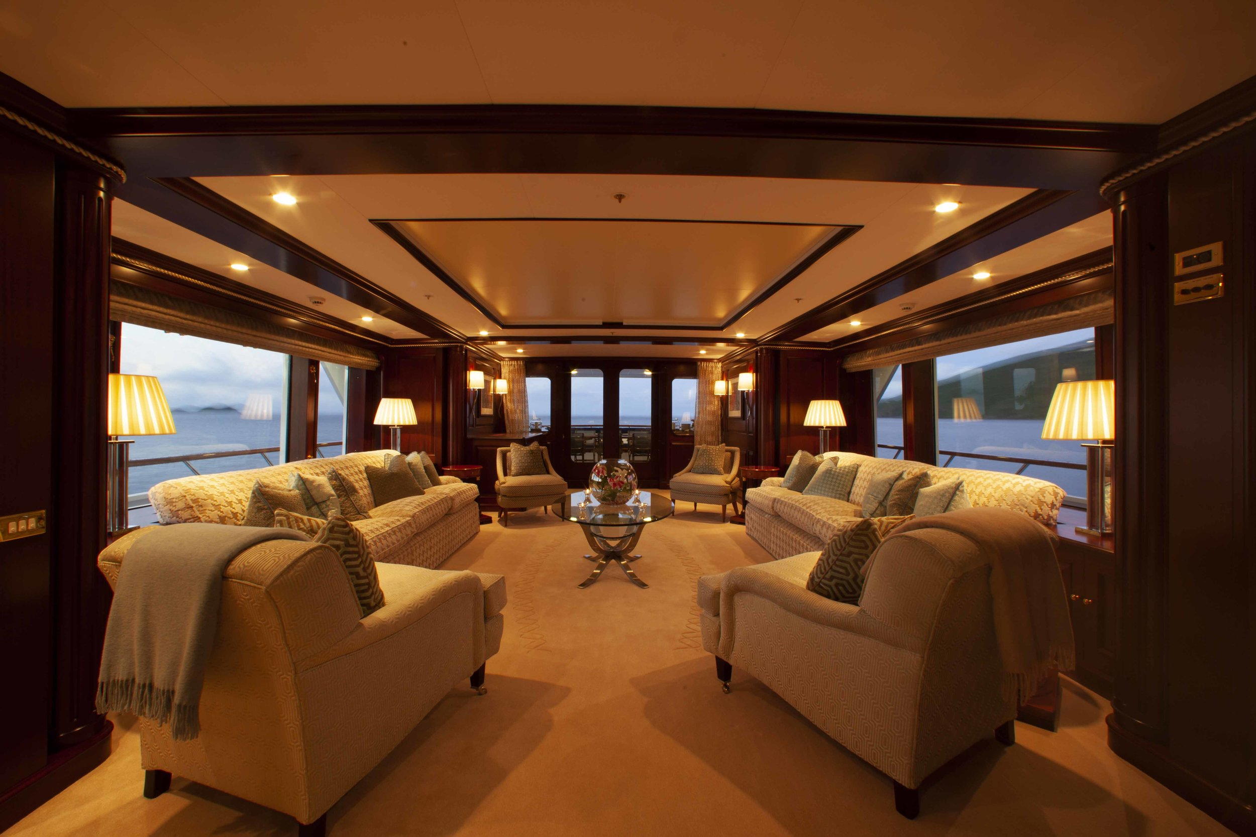 Interiors and details onboard Teleost, 161' Feadship in St. Thomas, USVI.