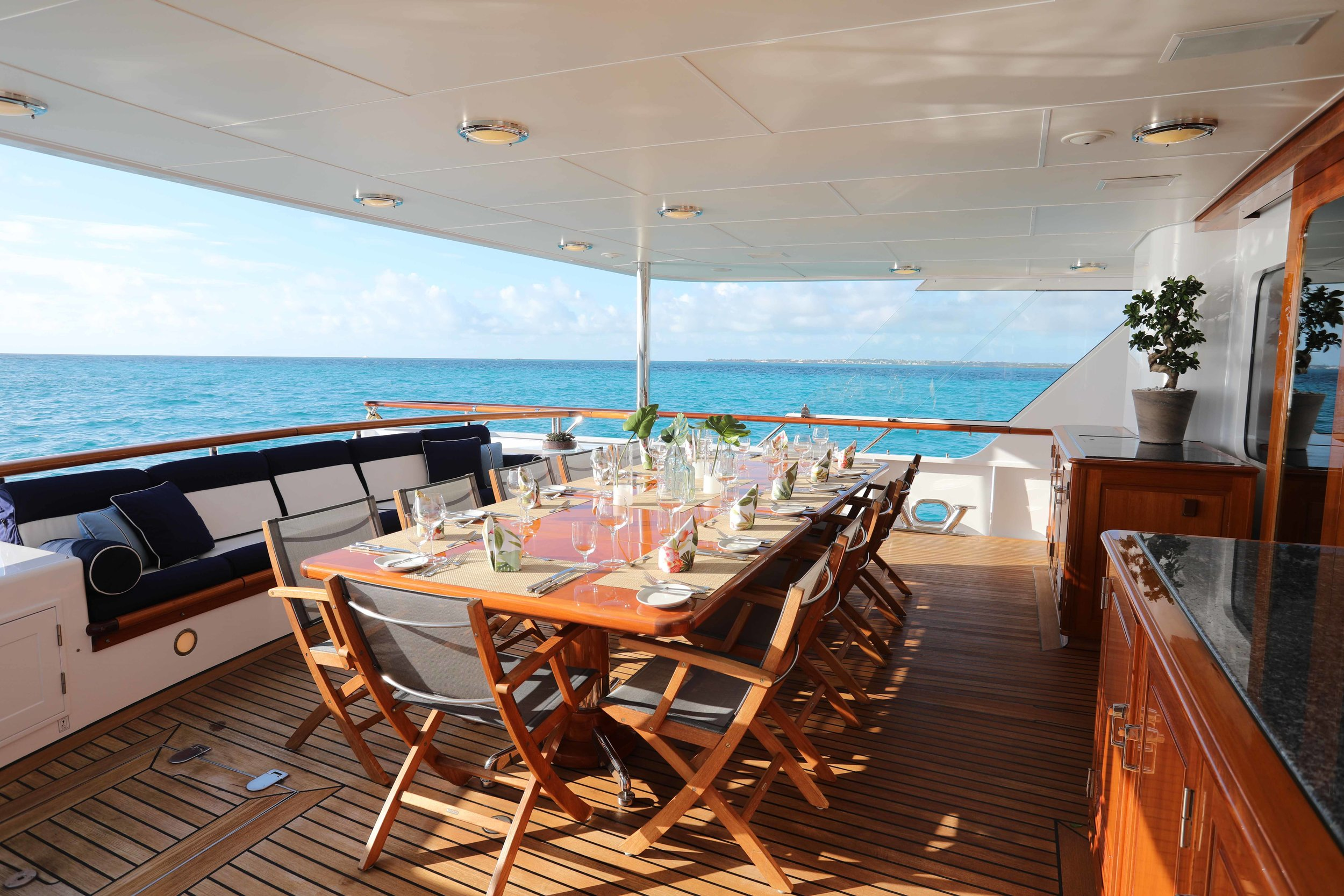 Teleost 160' Feadship in the Bahamas