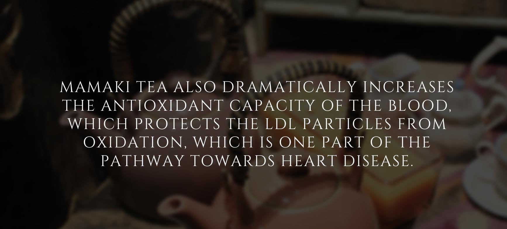 Mamaki tea benefit infographic