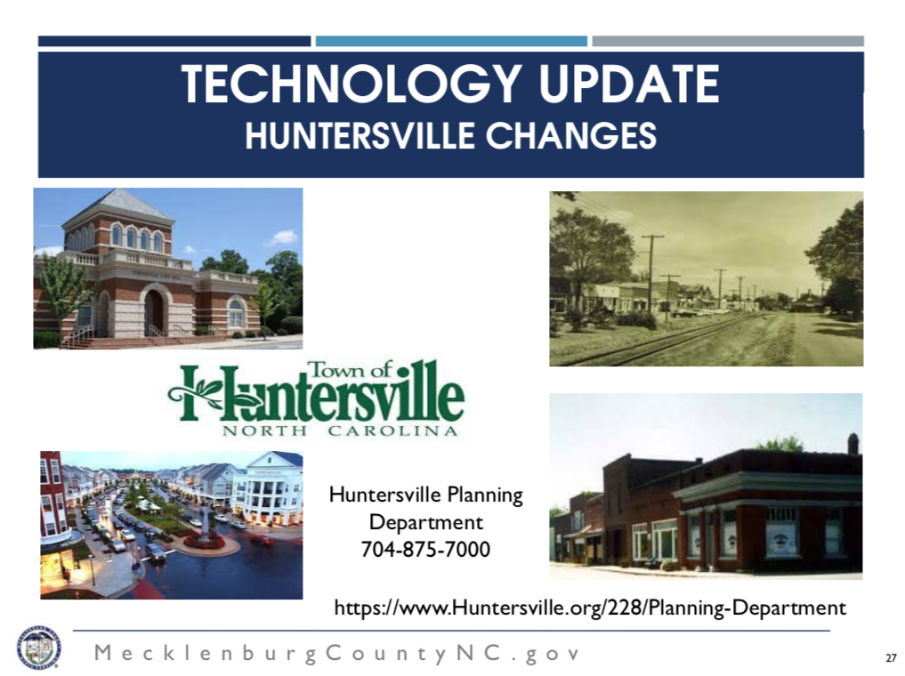 Huntersville New Planning Services - Went into effect May 1st