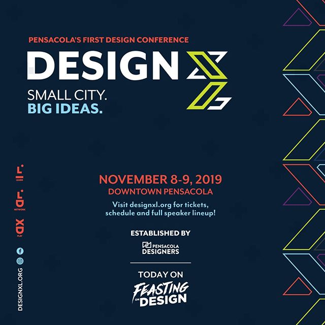 Today on @FeastonDesign, I'm talking with The team from @Design.XL, a new design conference in Pensacola, Florida this November. We talk about how the conference got started, the importance of building community, and why you should come to DesignXL, plus a whole lot more. https://buff.ly/2nDDT8y⠀ ⠀ Rate, share and subscribe on #iTunes, #applepodcasts, #Stitcher, #Spotify, and #GooglePlay ⠀⠀⠀ ⠀⠀⠀ #Design #Lettering #Illustration #Typography #GraphicDesign #Branding #UserExperience #UserInterface #MotionGraphics #Creativity #podcast #BreakBread #restaurantbranding #menudesign #restaurantdesign #beveragebranding #packagedesign #interview #digitaldesign #creativepodcast #designpodcast #Guinness #CraftCocktails #CraftBeer