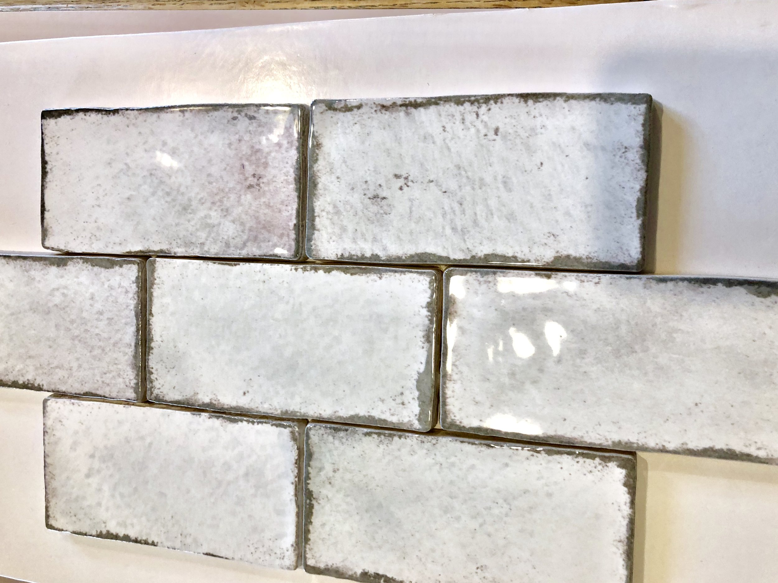 Handmade ceramic backsplash tile