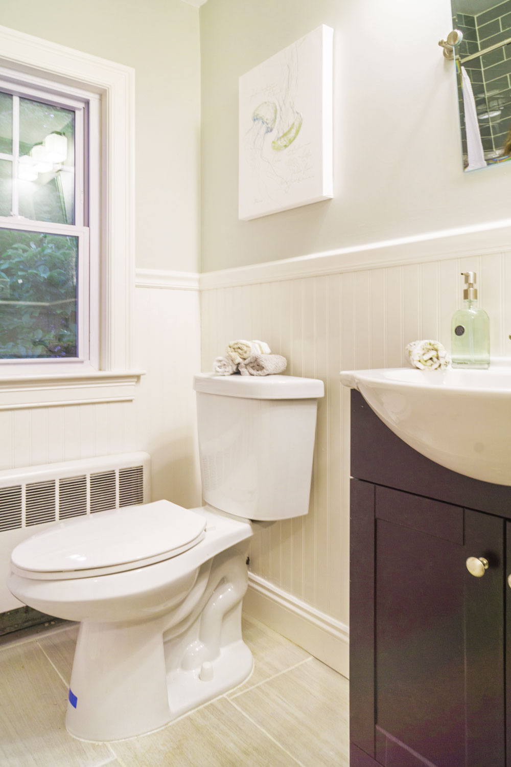 Bathroom home styling for new home sales.