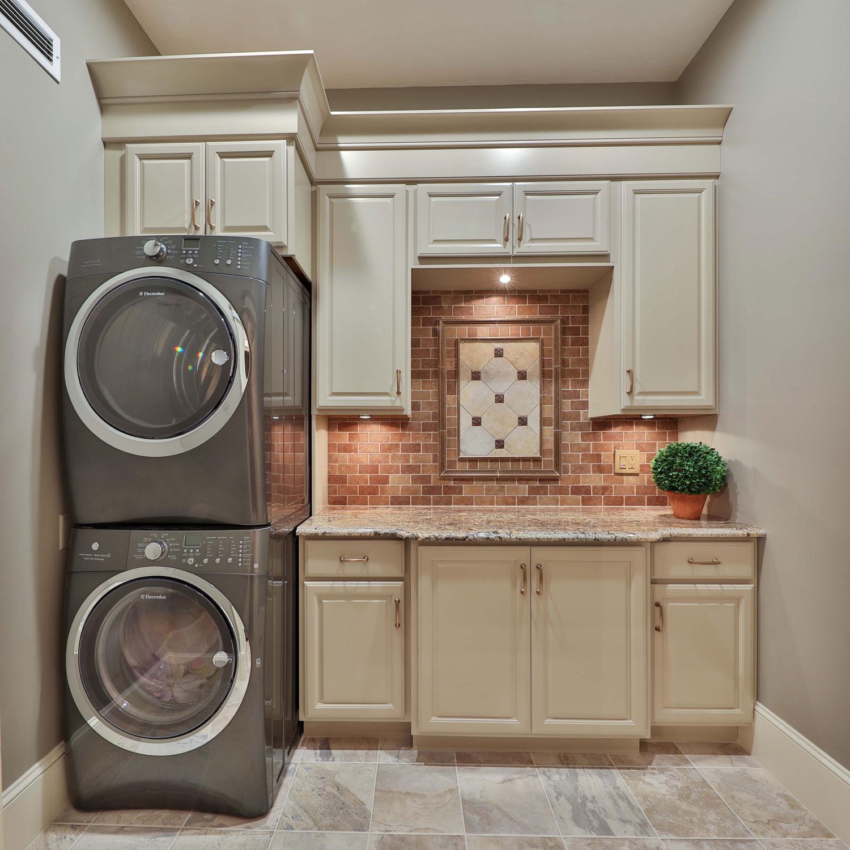 Laundry room interior design.