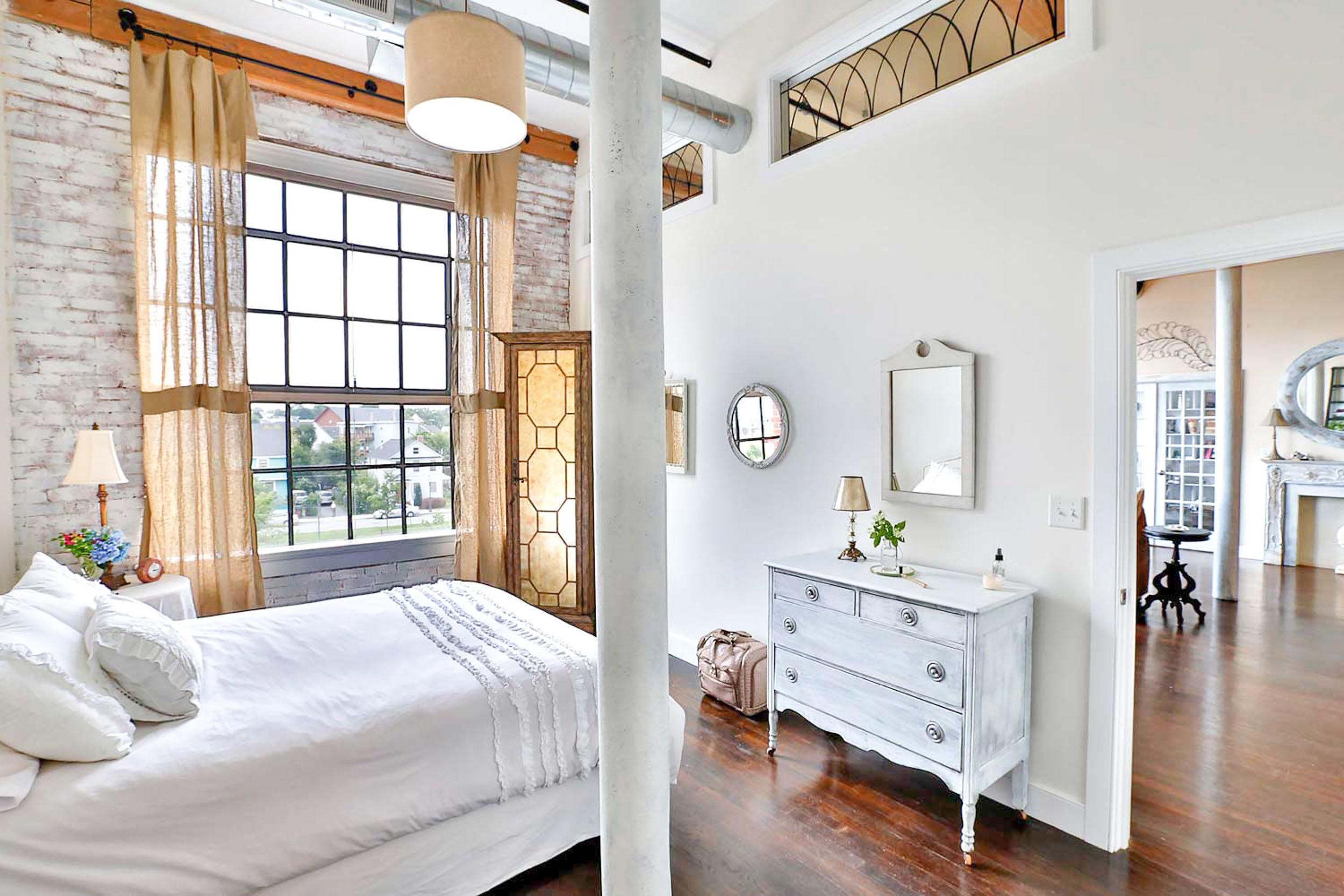 Residential loft space interior design.