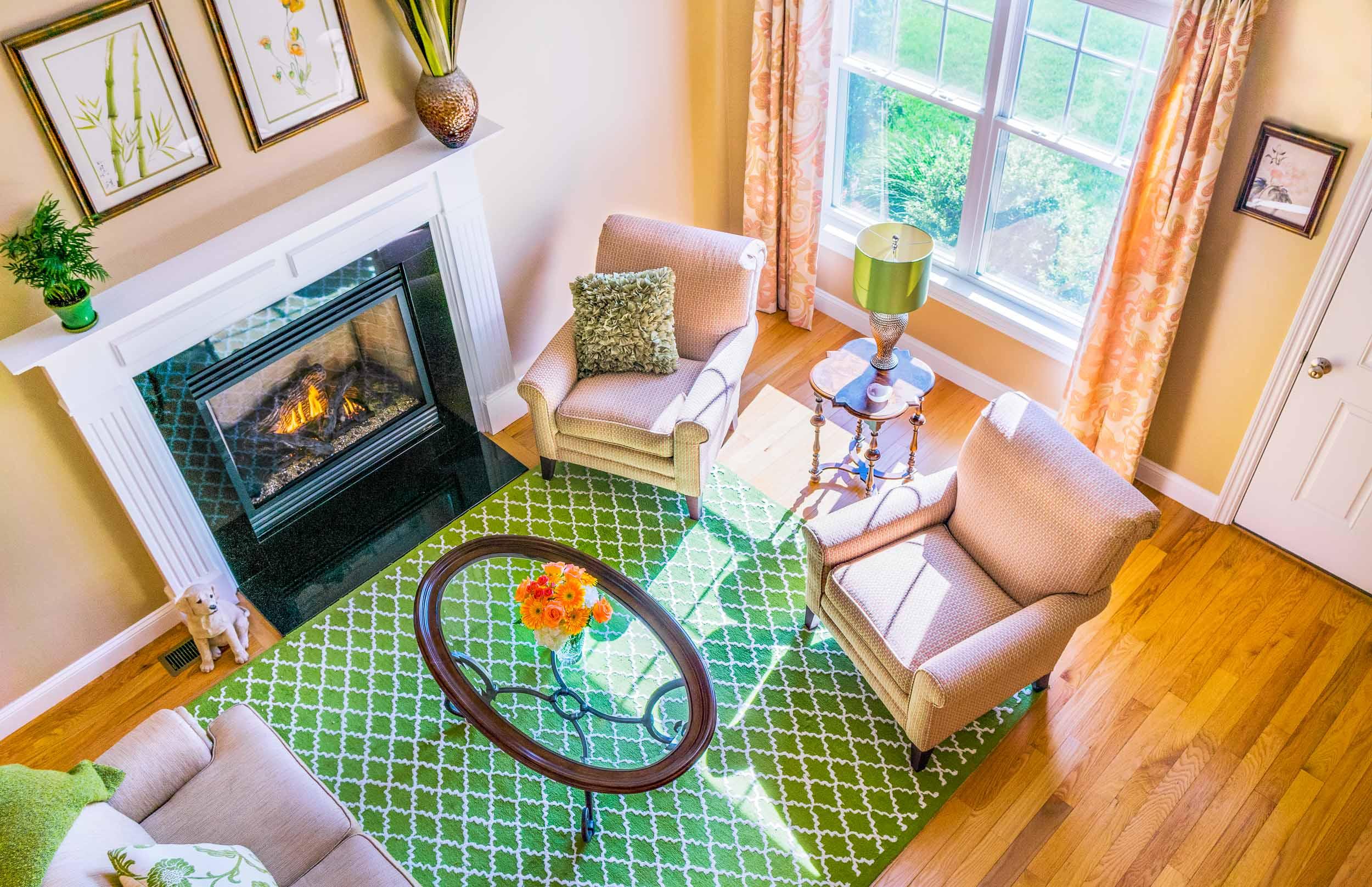 Condominium interior design for a 55+ community.