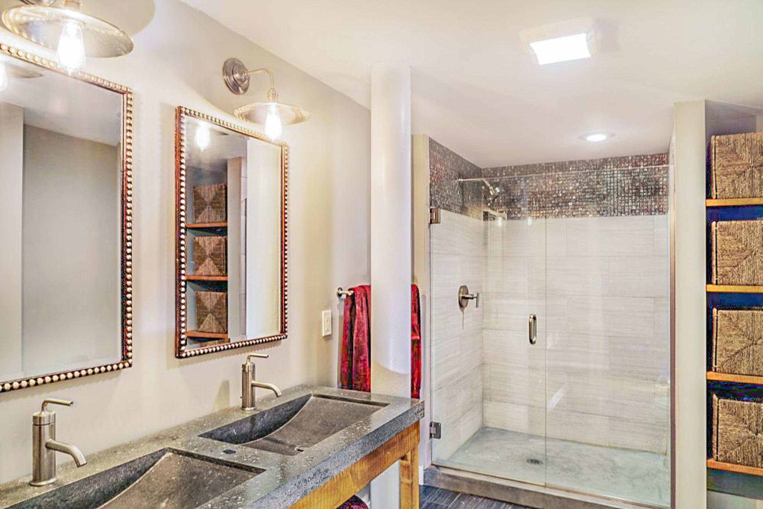 Industrial Loft Bathroom Interior Design — Debbe Daley Designs