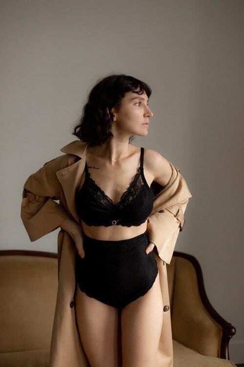 Inga Avedyan in Alexander Bralette and Carmina Panty (Copy)
