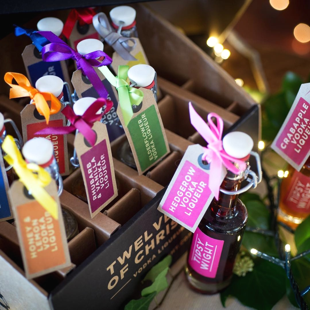 Tipsy Wight - Tipsy Wight produce gorgeous award winning flavoured vodkas and vodka liqueurs from 100% natural ingredients they grow or forage on their family farm, on the banks of the River Medina.