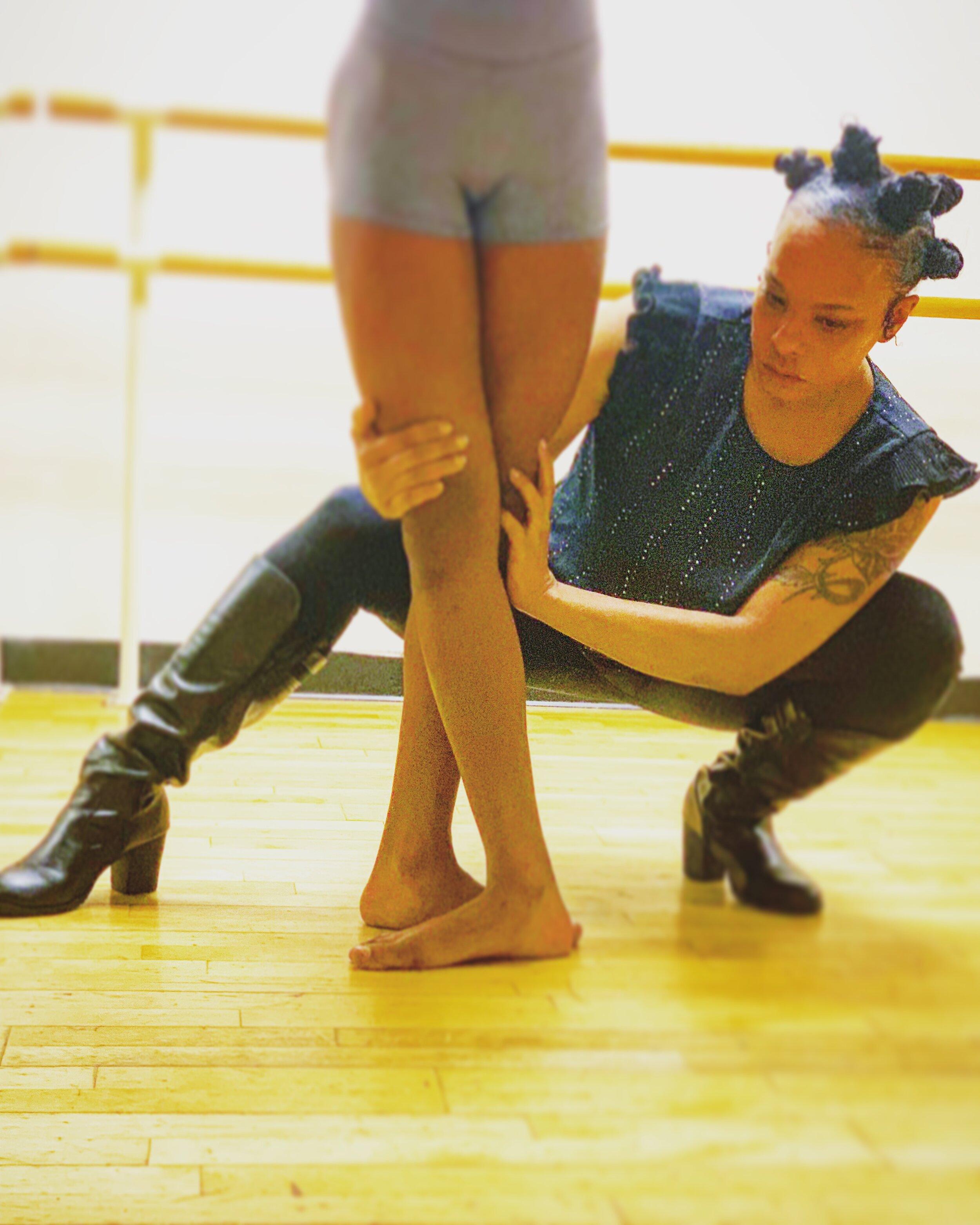 Kerri Edge educating on dance at Edge School of the Arts