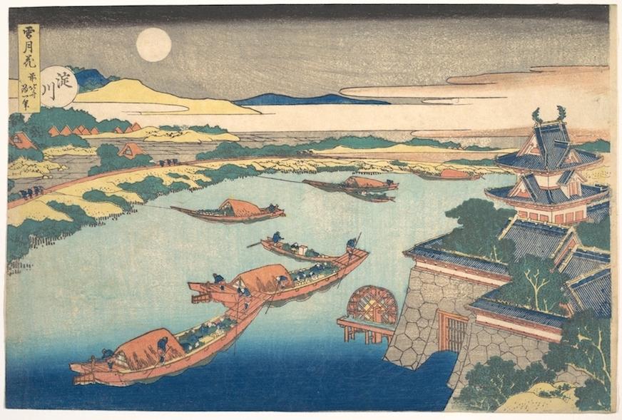 Moonlight on the Yodo River (Yodogawa)