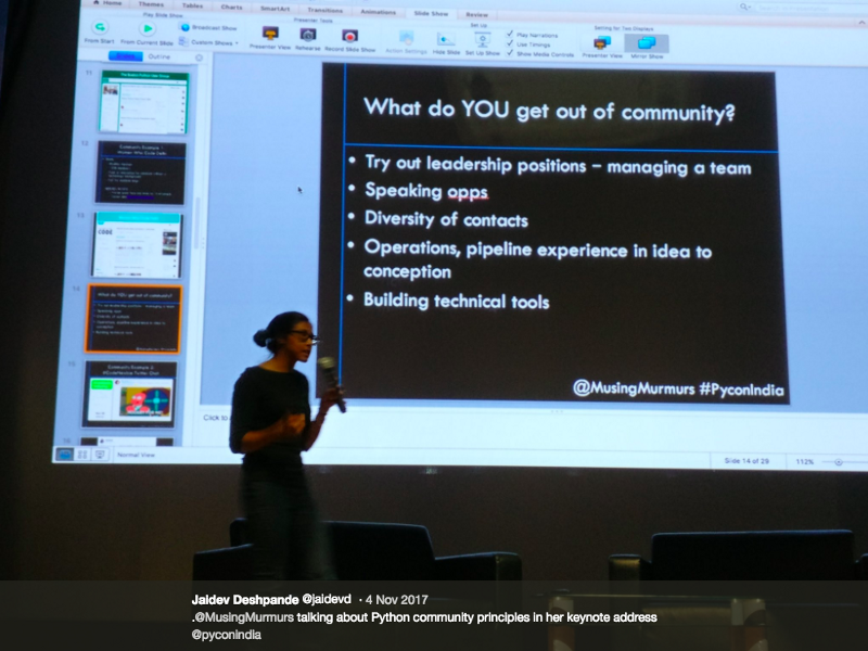 "#keynote ""Python Community Principles""@ PyCon India - November 2017Video"