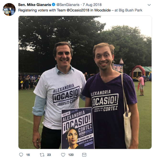 Senator Gianaris quickly got on board with the new team.