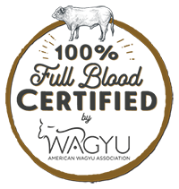 100% full blood Wagyu certified by the American Wagyu Association