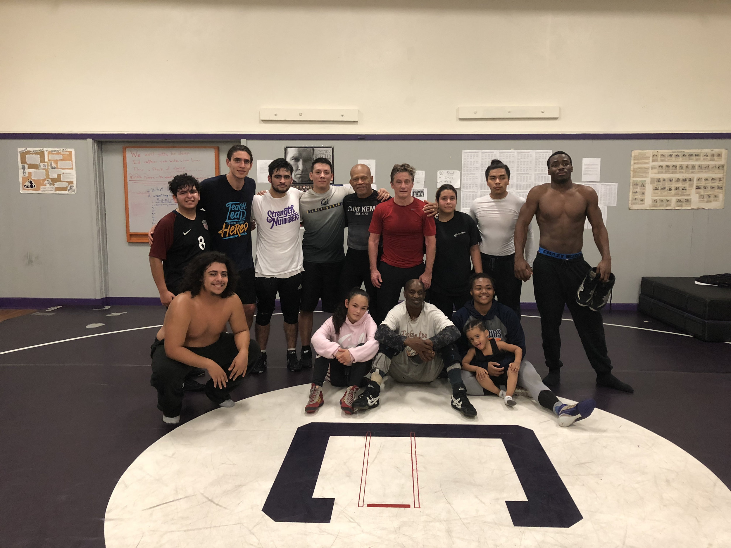 Castlemont High School Wrestling Practice with Lee Kemp and Kevin Dunn.
