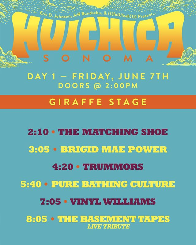 "Huichica Sonoma is 9 days away and yes, the time has come to announce STAGES and SET TIMES for Friday, June 7th and Saturday, June 8th! So if you have your ticket take a look and start planning your days out! PLUS, on Friday there will be HAPPY HOUR at the House where you can meet 6th generation Rob Bundschu while enjoying a flight of 3 wines and lounging in the historic living room. On Saturday we are also offering PINZ SPINZ where we will take you on a ride throughout the winery on our Pinzgauer with, of course, a glass of wine in hand. You can also experience TO CHILL OR NOT TO CHILL where we will share the history and new projects of the winery while you enjoy a flight of our finest Bunschu wine and snacks. There are a limited number of time slots and tickets for these events so be sure to head to our website under ""Exploration"" for more info!"