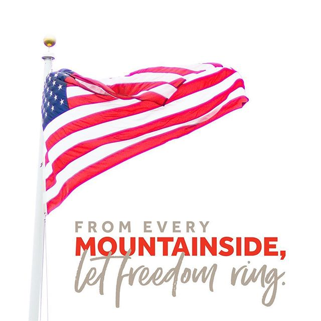 """Let music swell the breeze, and ring from all the trees sweet freedom's song."" We are continuously grateful for our freedom and our country. Have a safe Independence Day!"