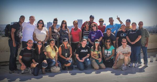 Our group visiting the L.A. Dream Center in 2013
