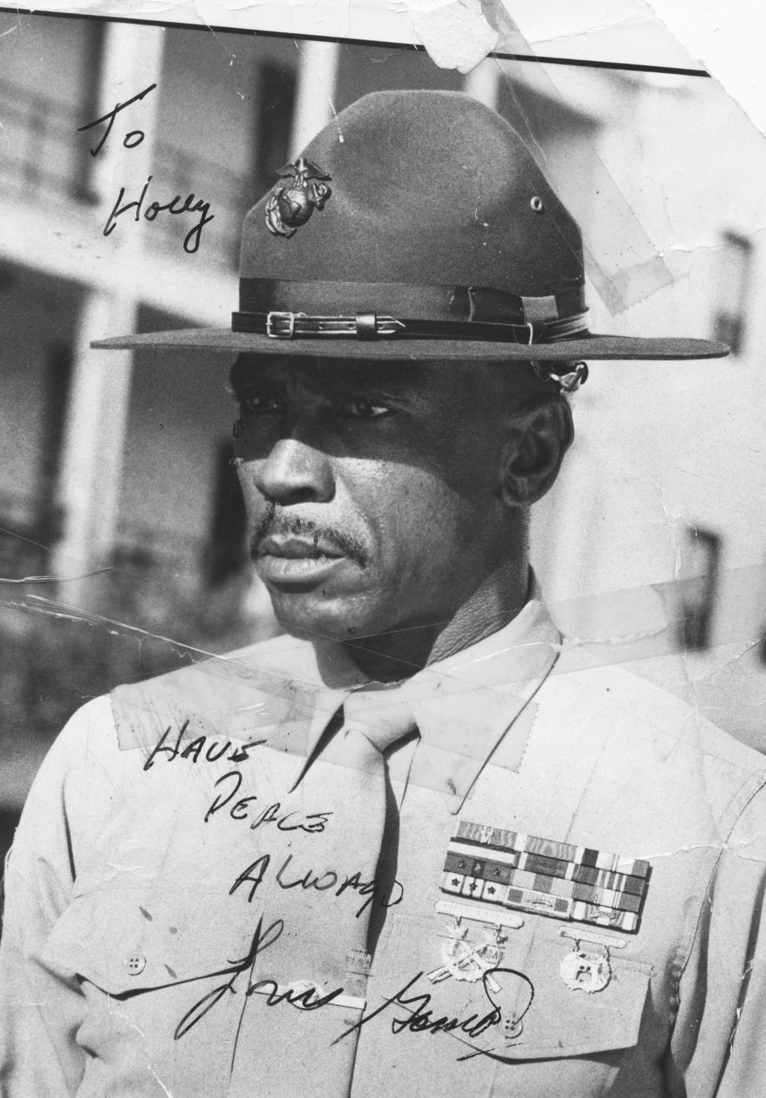 Louis Gossett Jr.  signed to Holly.jpg