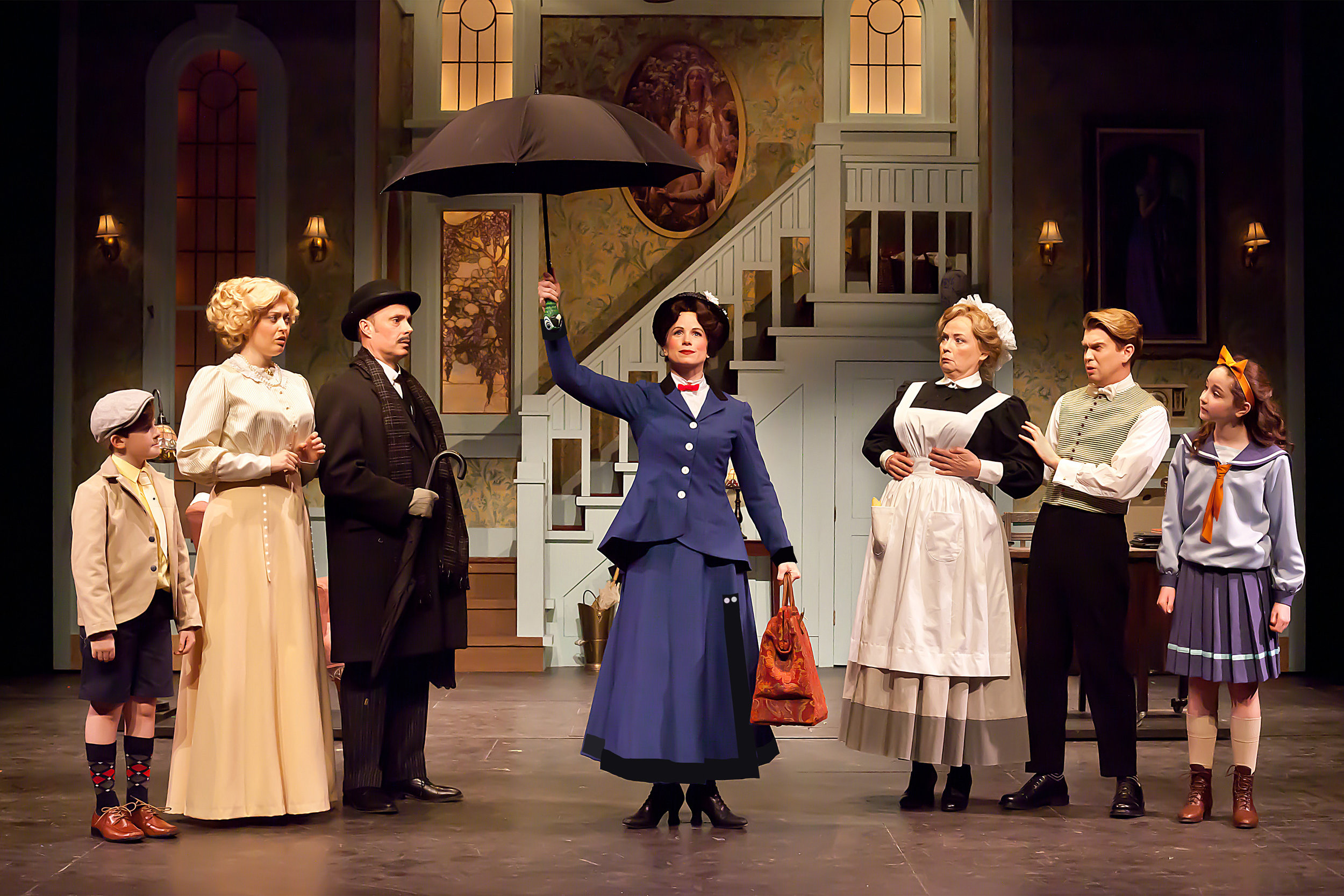 (Neptune Theatre,  Mary Poppins  *Merritt Award for Outstanding Costume Design. Set Geofry Dinwiddie | LX Renee Brode | WRD Sean Mulcahy) photo by Timothy Richards
