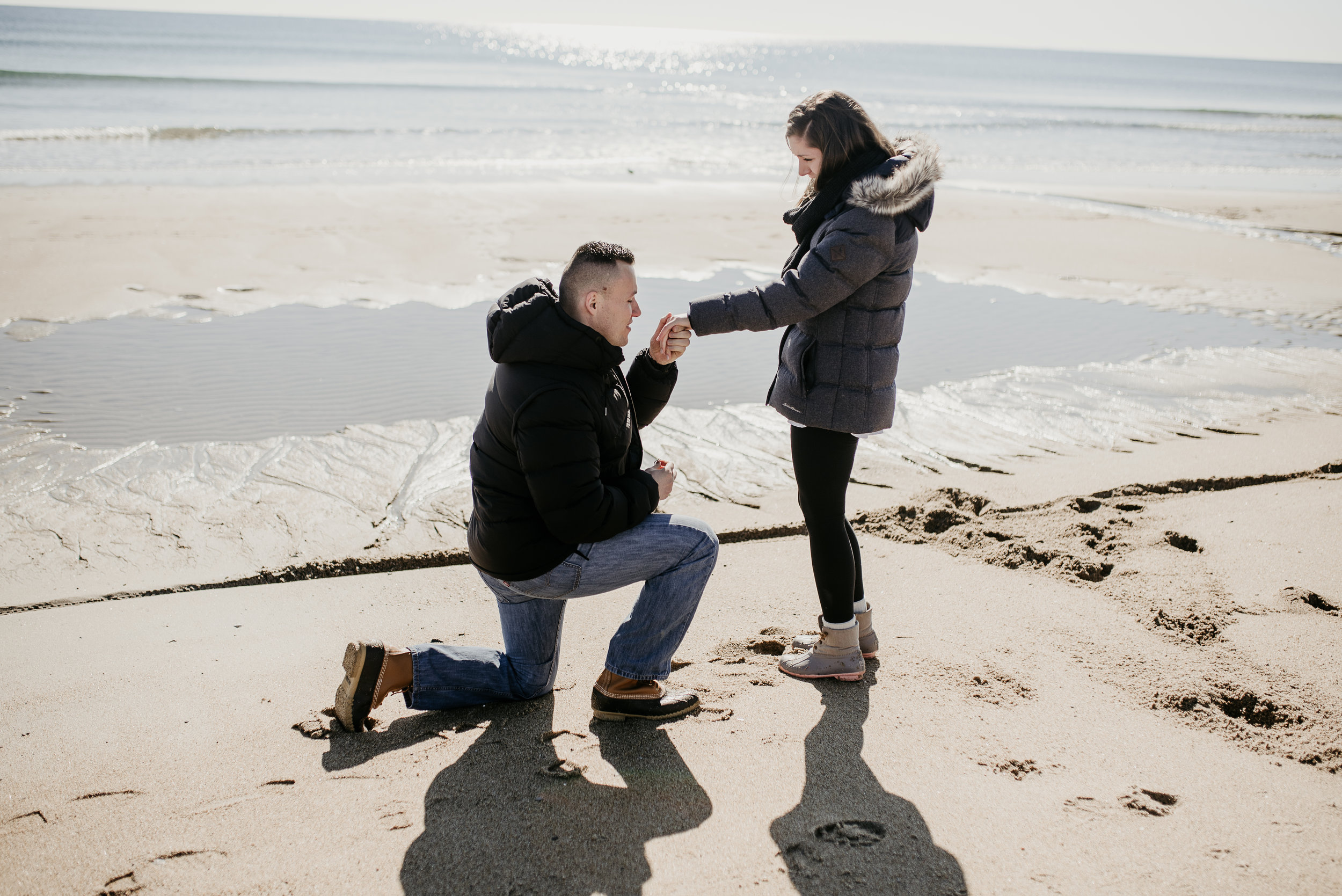 One knee, never gets old for me!  NH Seacoast wedding and engagement photography