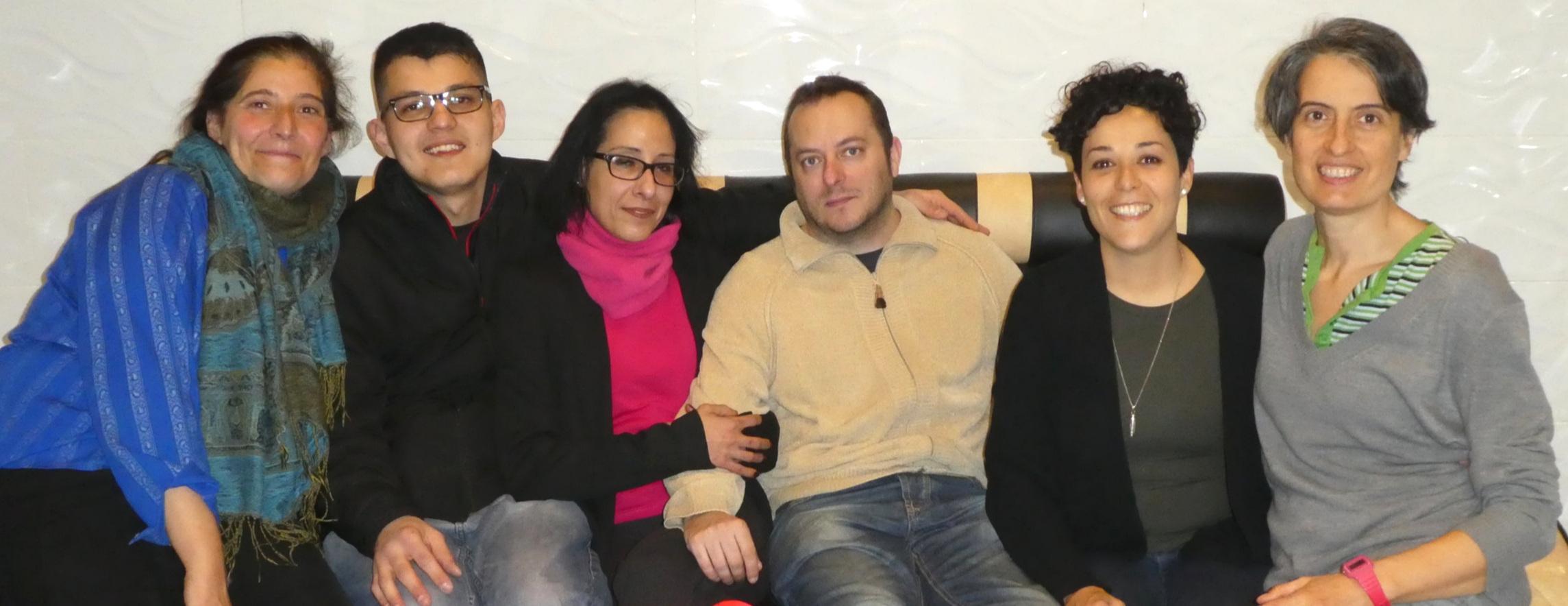 Elena, Hamilton, Noelia, Ángel, Sandra y Queralt en una reunión de trabajo (febrero 2019)