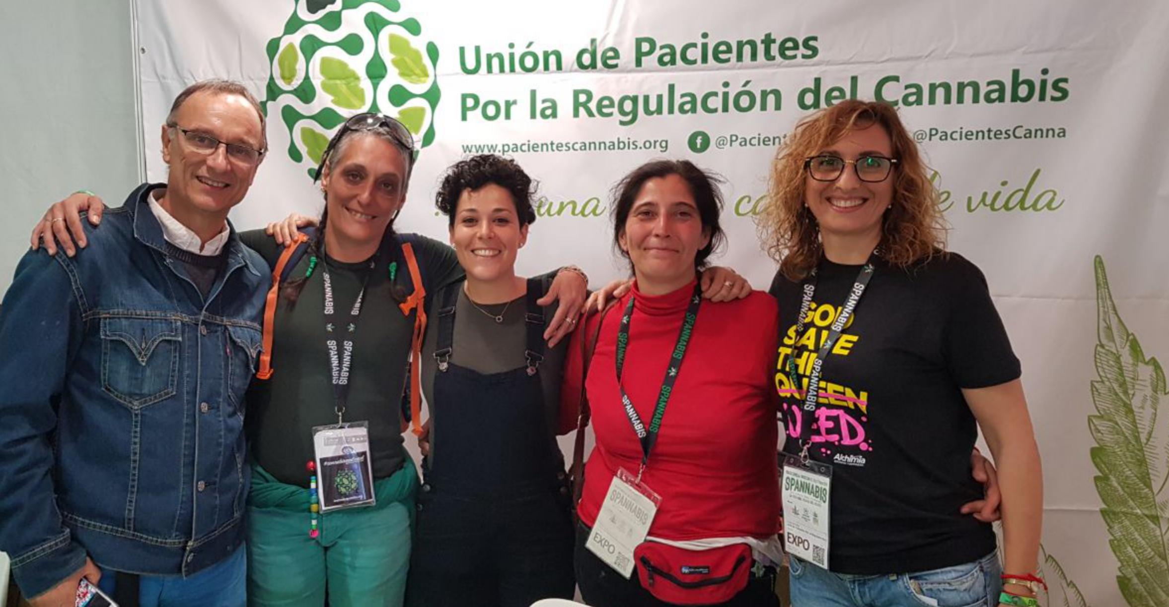 Carlos, Gisela, Sandra, Elena en Spannabis 2019 (marzo 2019)