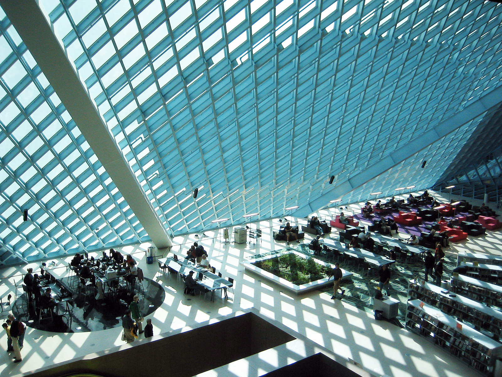 Reading Room of the Seattle Public Library - Central Library