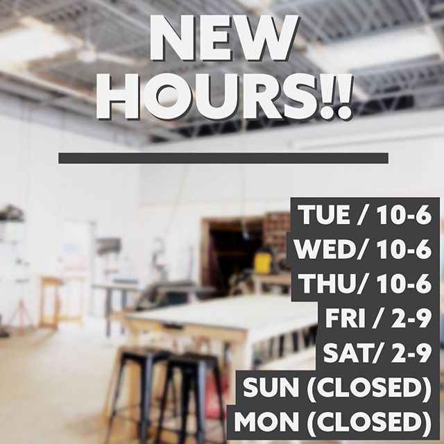 We're now open 5 days a week, starting today!! 🥳🎉 come in and see what's new with Makerspace! . . . #makerspace #makersgonnamake #smallbusiness #supportlocal