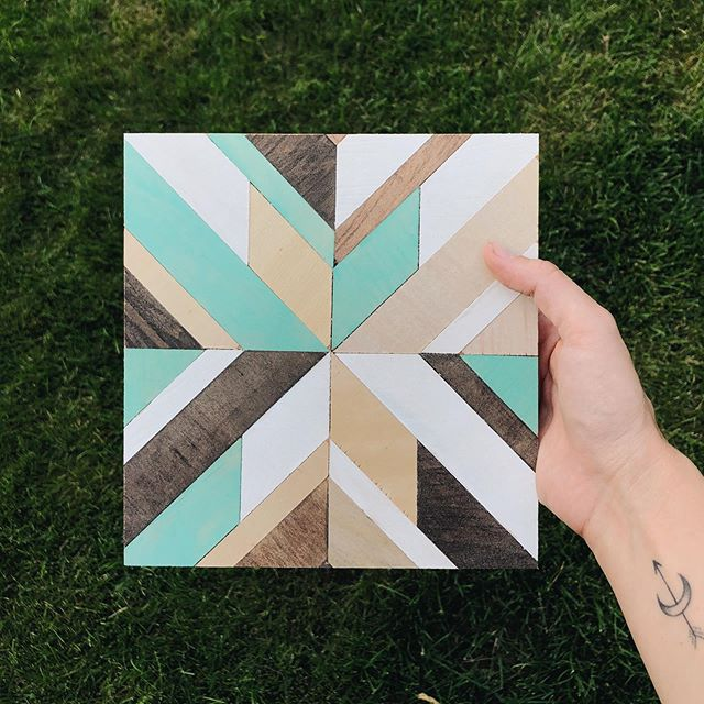 Spent a few hours yesterday prepping for our kids & parent wood quilt class (which is exactly one week away!!) here's another example of how different and unique each quilt can be!  If you're interested in this class, go to the events tab on our Facebook for deets + tickets!!