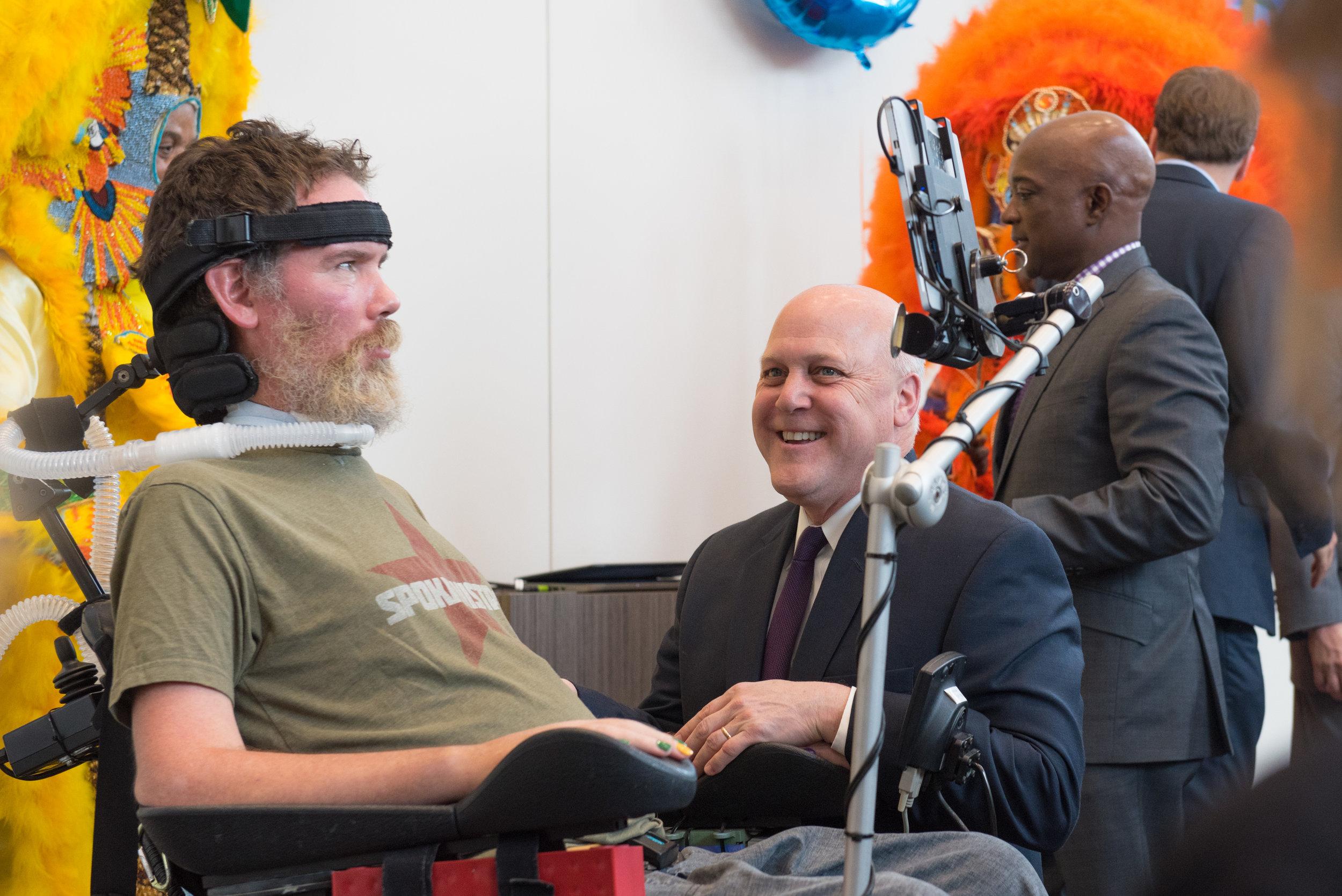 GiveNOLA - Steve Gleason with Mayor .jpg