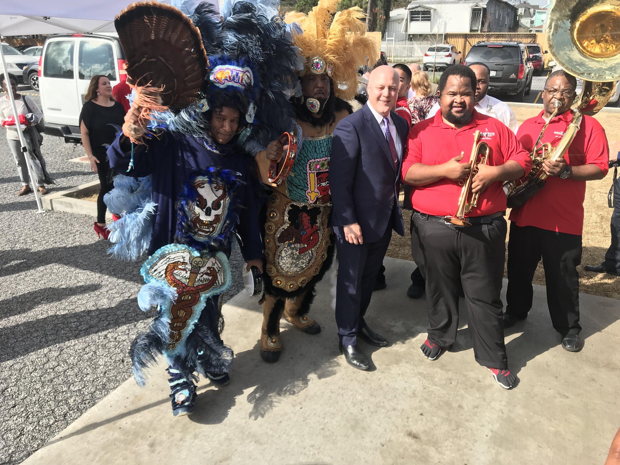 Ruby Slipper Opening Mayor Mardi Gras Indians