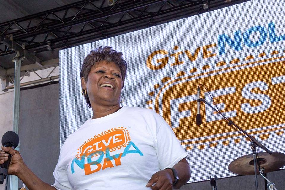 Irma Thomas performs at GiveNOLA Day