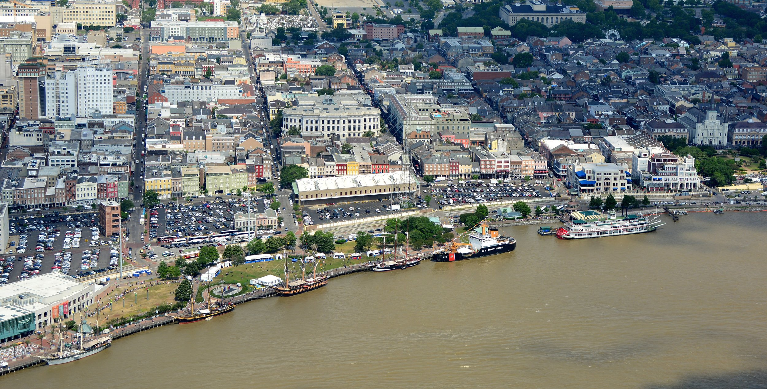 Tall Ships New Orleans Aerial Shot by Patrick Quigley