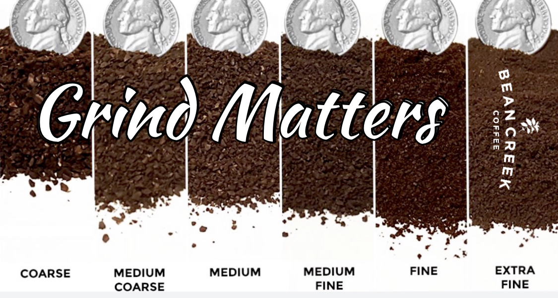 Select the right grind. - It can make all the difference…