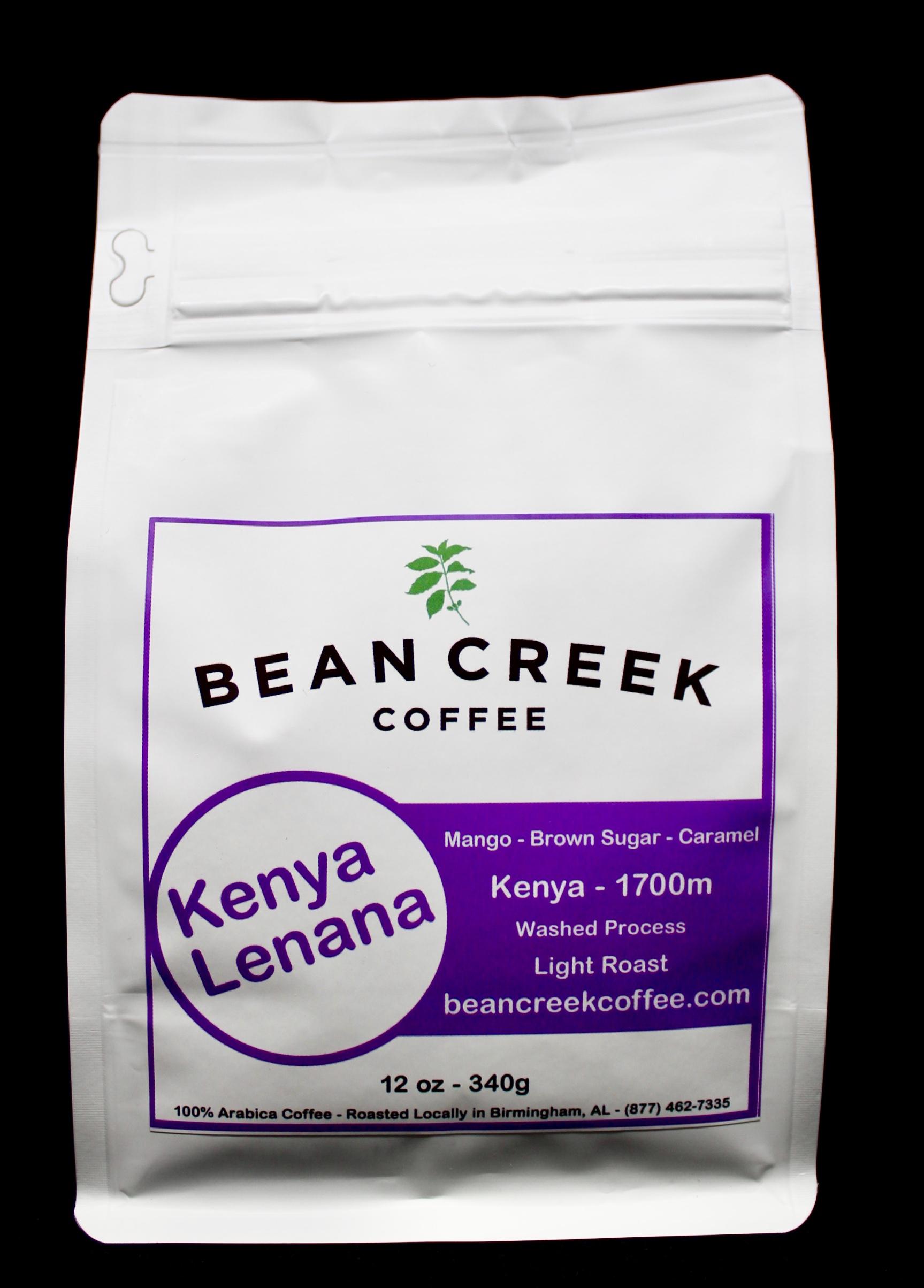 Bean Creek Kenya Lenana single-origin coffee