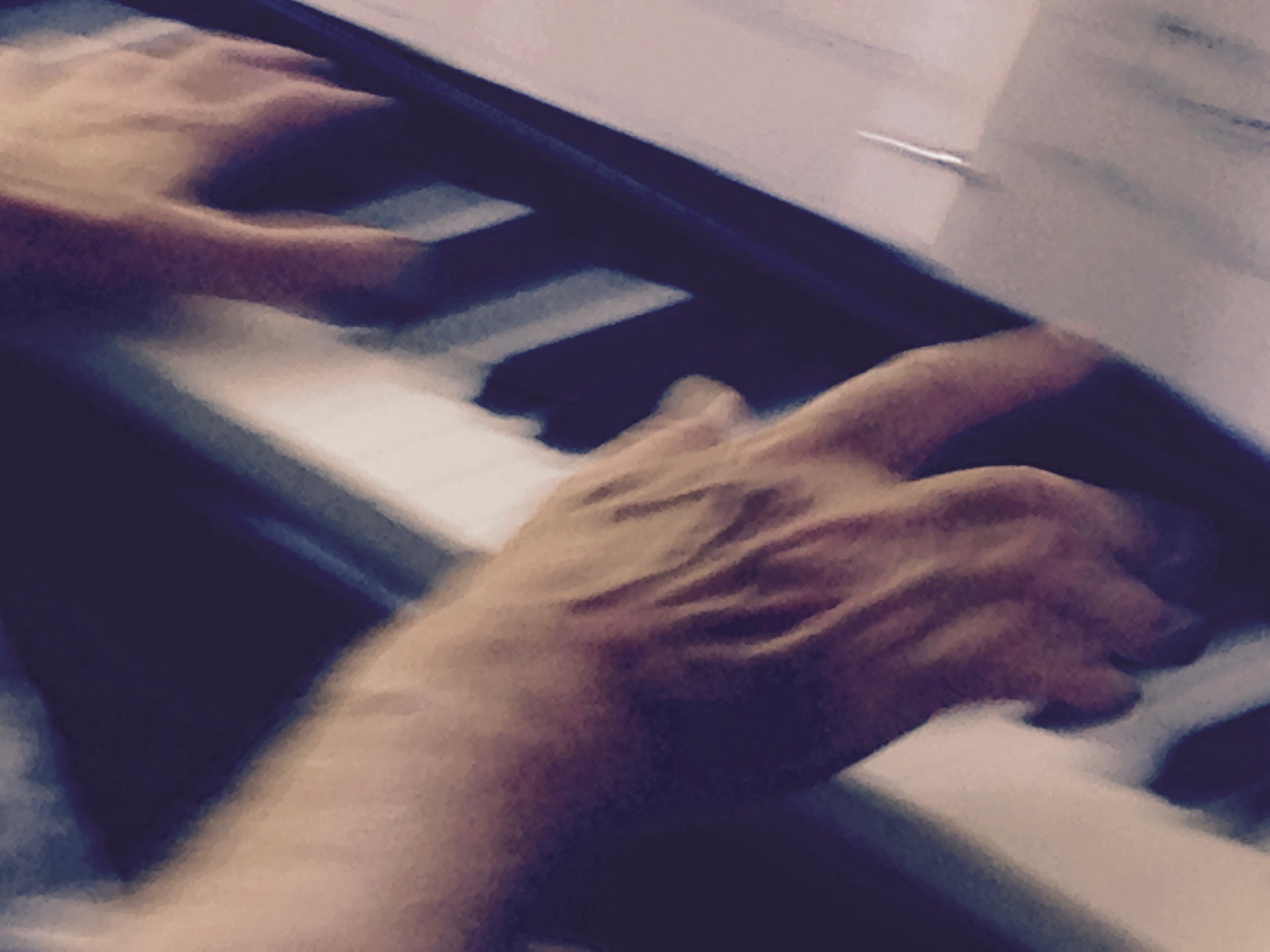 hands on piano