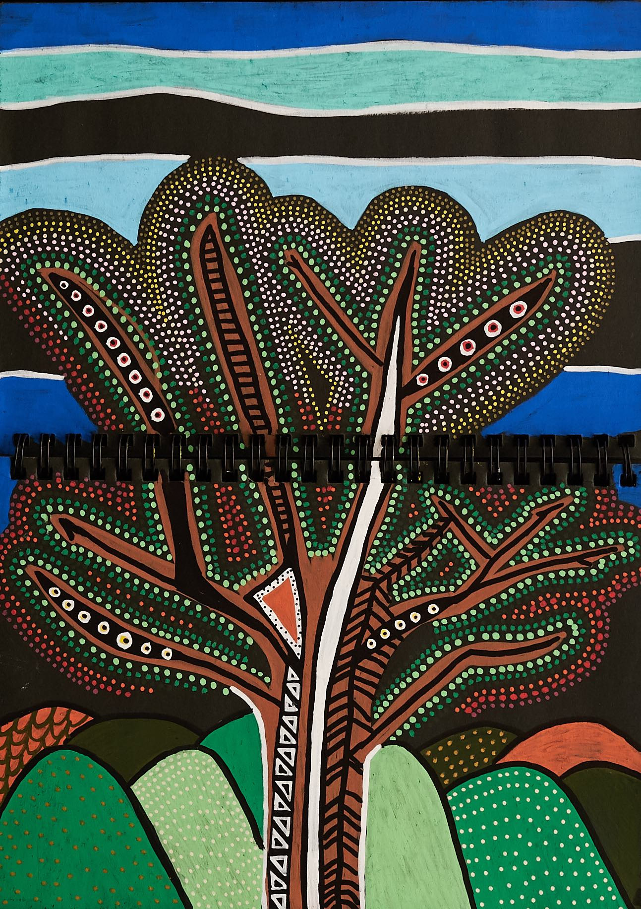 tree of possibilities - work on paper; acrylic paint pens21cm x 29.7cmJuly 2017