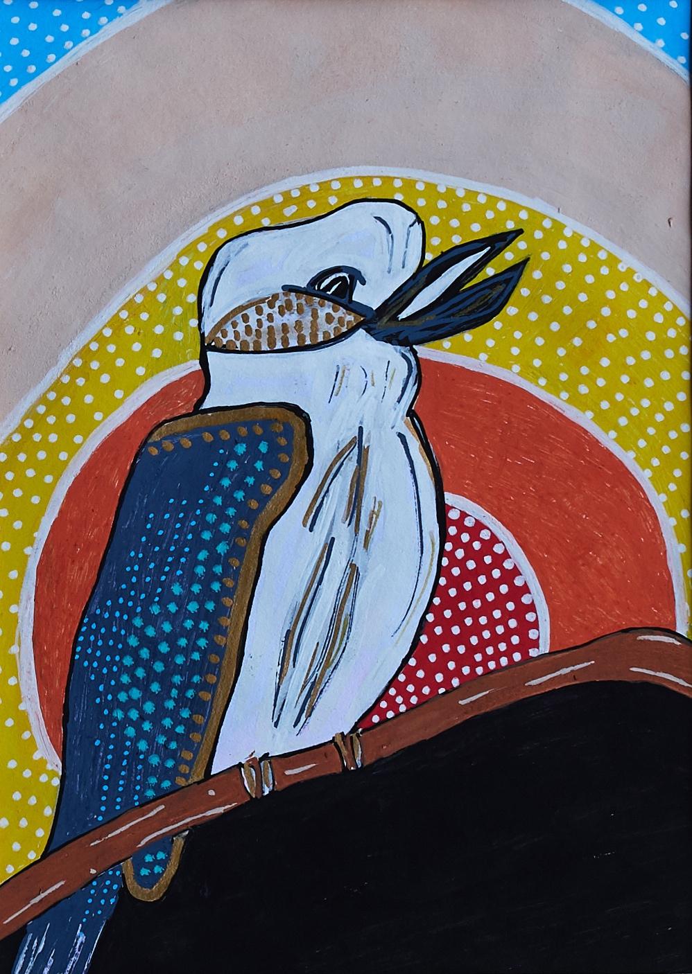 K.k.k.k.K…KATIE had a matey - work on paper; acrylic paint pens14.8cm x 21cm2017