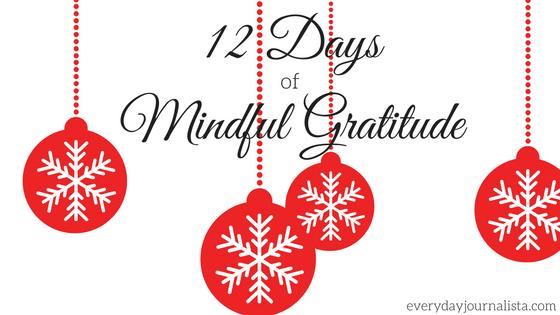Gratitude Challenge, I'm grateful for, Journaling, Planning, Gratitude Journal, 12 days of Gratitude, Planner layout, Gratitude challenge layout