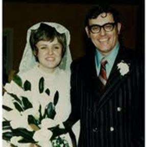 Evelyn and Hugh Brady at their wedding in 1970.
