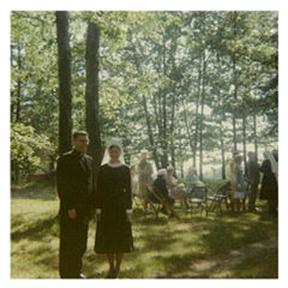 Father Hugh Brady and Sister Mary Emily, RSM.